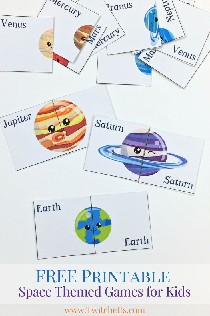 Printable Space Themed Games ~ Solar System For ...