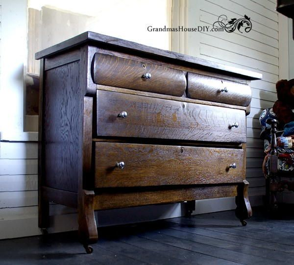 Upcycled Antique Wooden Dresser Dresser Refinish Repurposed