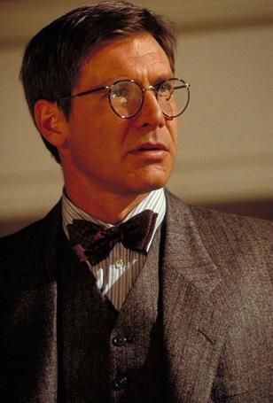 Harrison Ford Wearing Savile Row Beaufort Panto Glasses In Indiana