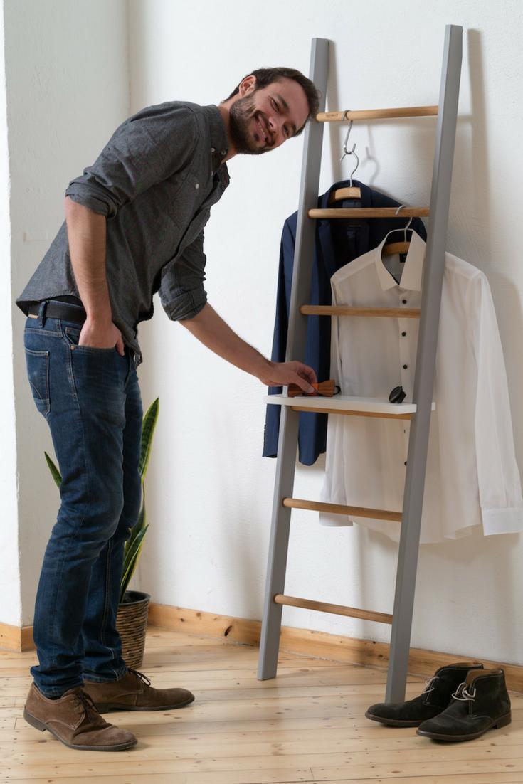 Kleiderleiter Volllackiert 8 Schone Farben Kleiderleiter Handtuchhalter Kleiderstuhl
