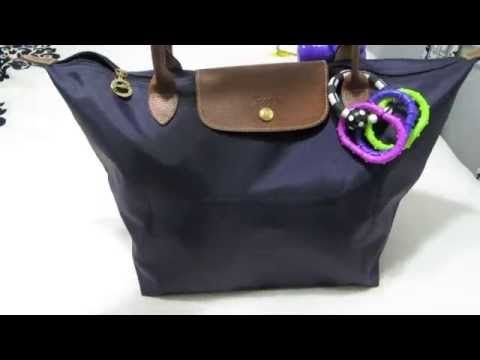8510ca802d49 Longchamp Le Pliage Tote as a Diaper Bag - YouTube