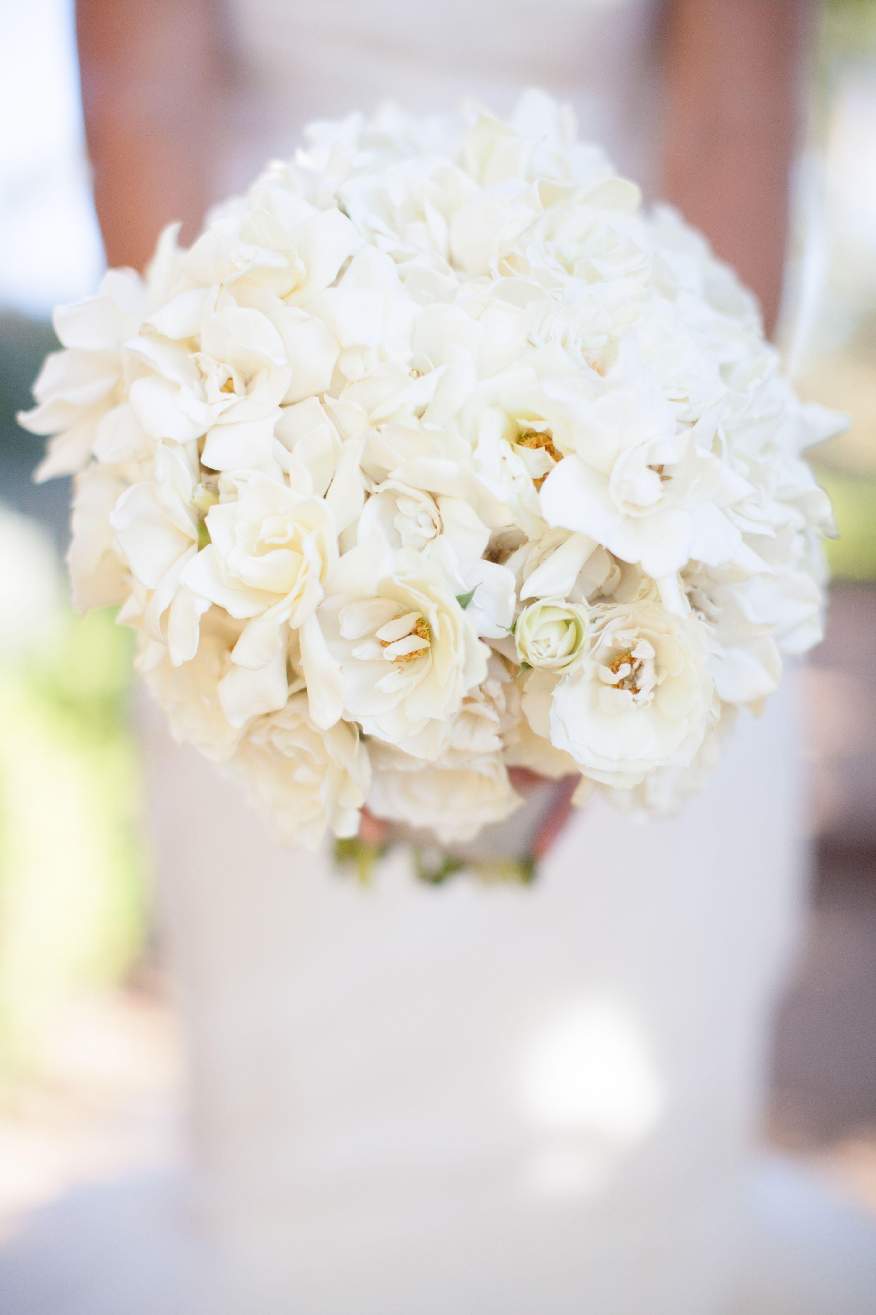 Ivory Gardenia Bridal Bouquet   Flower Wild   Annie McElwain Photography   TheKnot.com