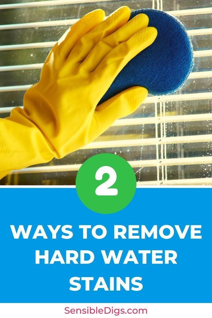 how to get hard water stains off glass fish tank