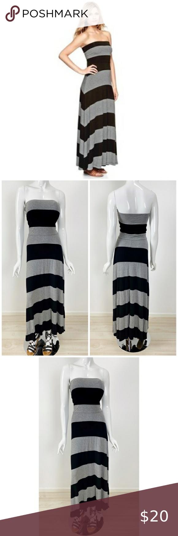 Gap Gray Black Convert 4 In 1 Maxi Dress Size S Maxi Dress Full Length Dress Striped Maxi Dresses [ 1740 x 580 Pixel ]