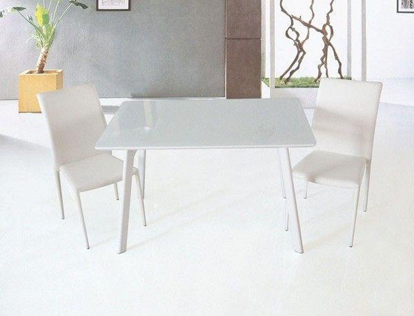 J M Furniture B24 White Lacquer Square Dining Table 17780