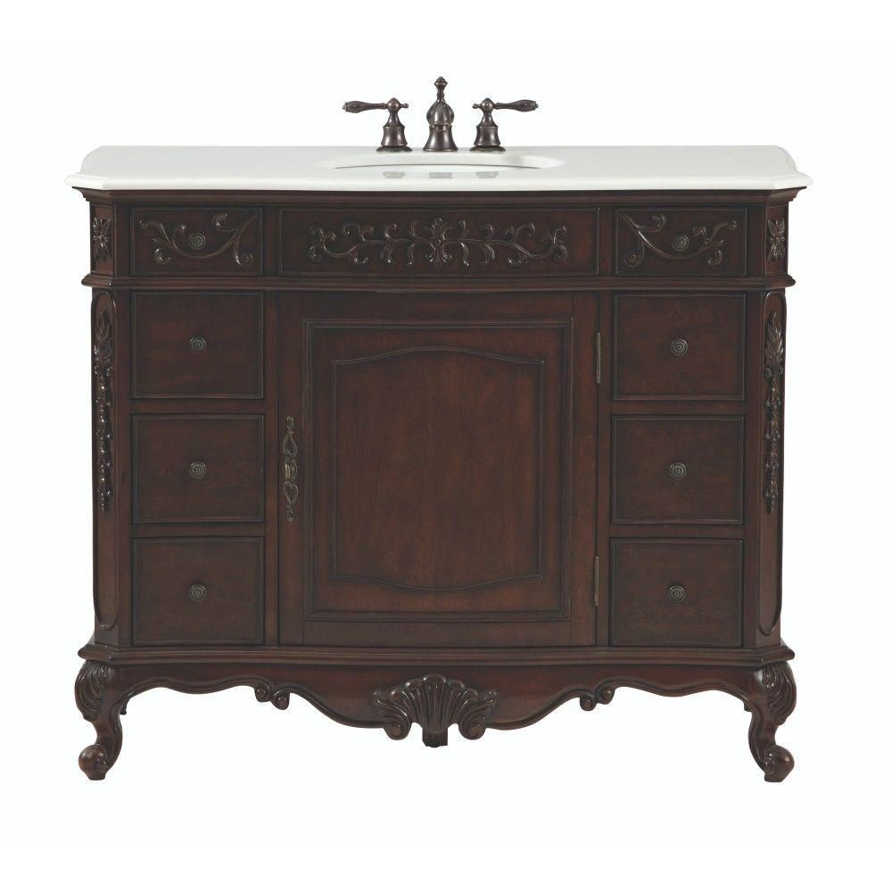 home decorators collection winslow 45 in w bath vanity in antique rh pinterest com