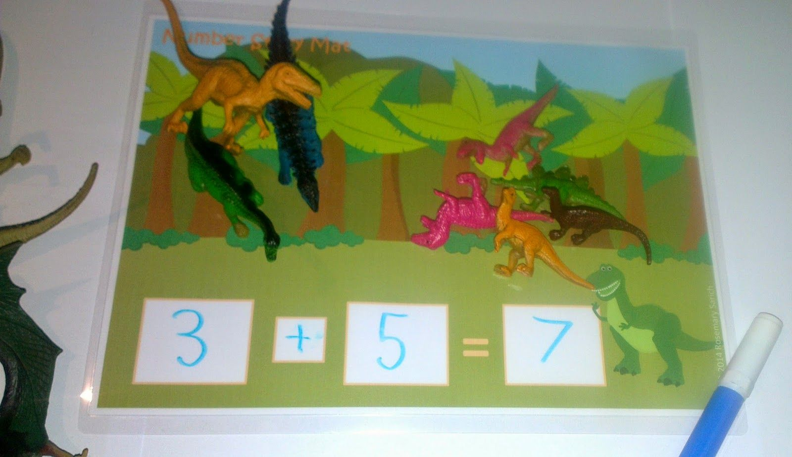 Dinosaur Themed Number Story Mat And Number Sentence Activities Available From Fairy Poppins