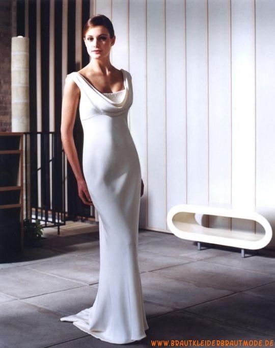 Günstige schlichte moderne Brautmode aus Seide   Brautkleider aus ...
