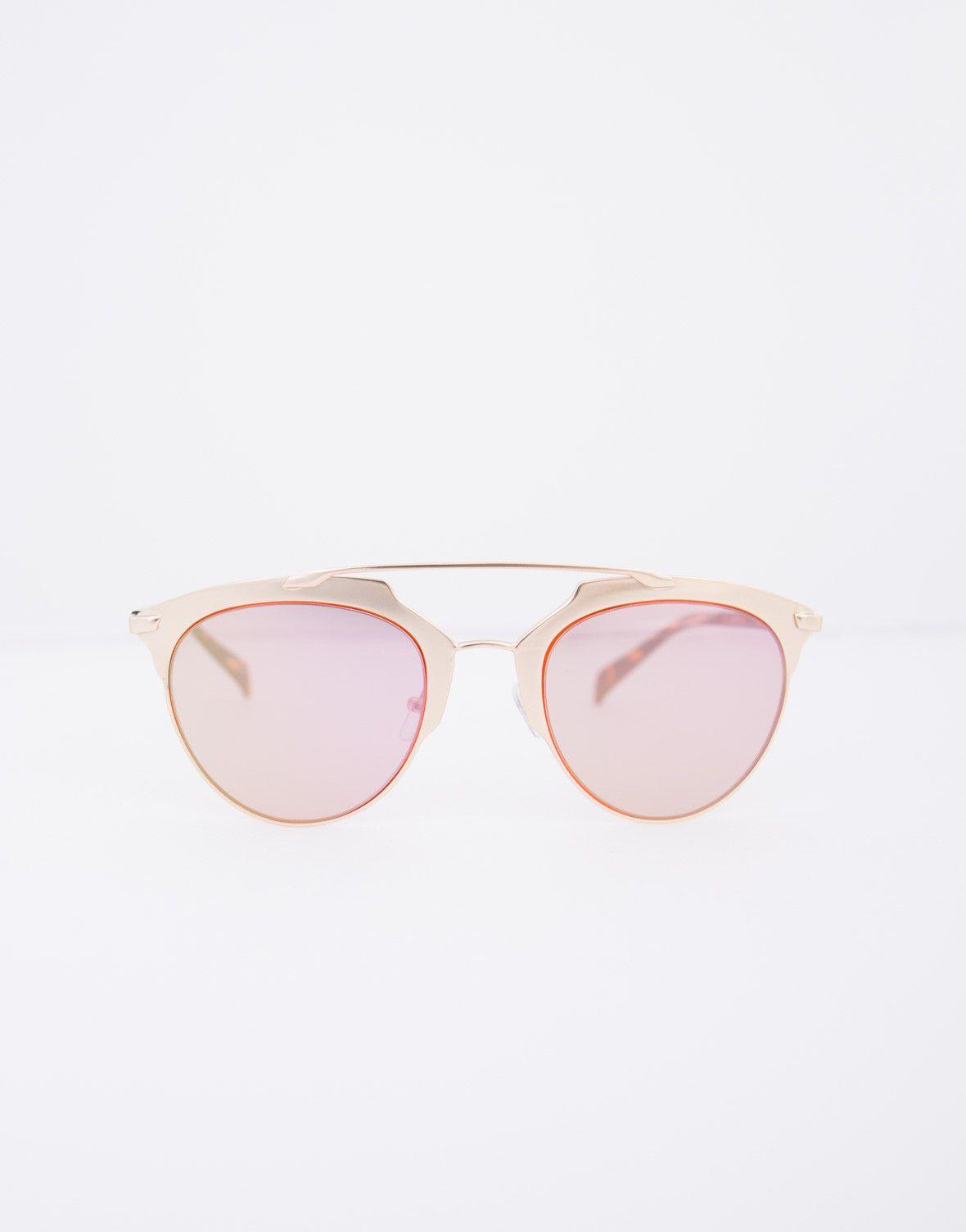 Oversized Mirrored Bar Sunglasses
