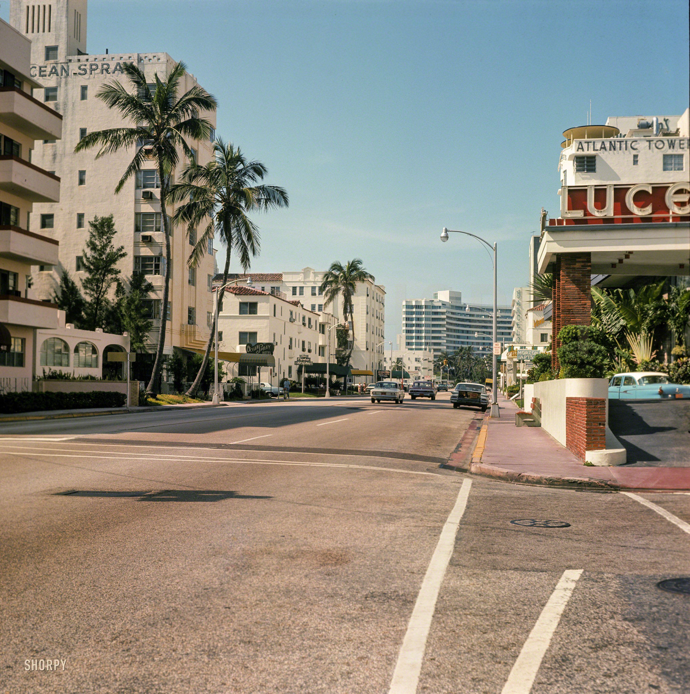 Ocean Spray 1964 High Resolution Photo Miami Beach Hotels Miami Beach Collins Avenue Miami