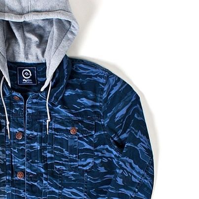2d02537d524b0 The @LRG Clothing Original Research Group Core Collection #Jacket in Navy  Tiger Camo. #LRG #camo