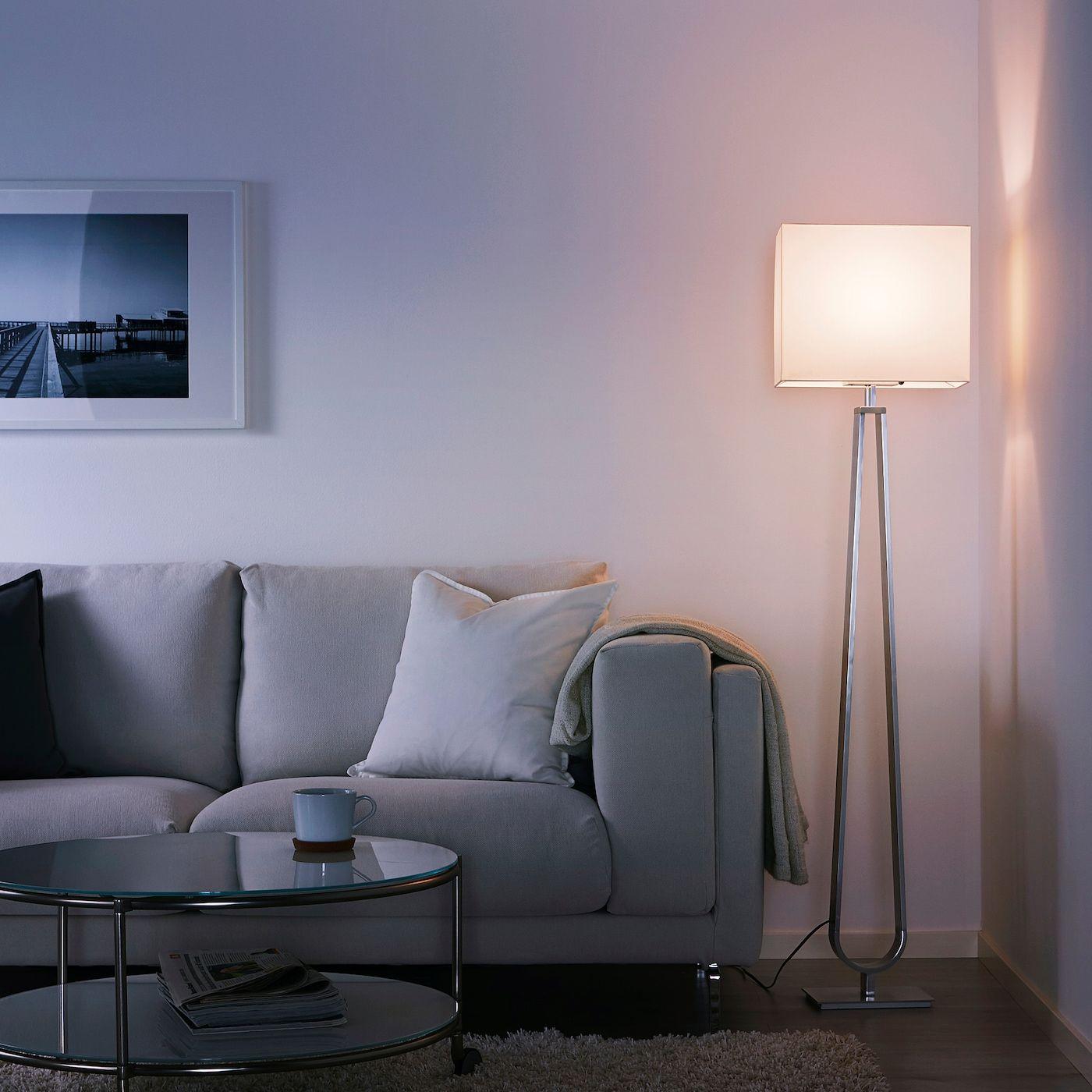 KLABB Floor lamp off white in 2020 | Standleuchte