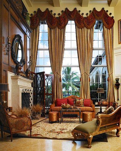 Living Room Draperies | Living Room | Pinterest