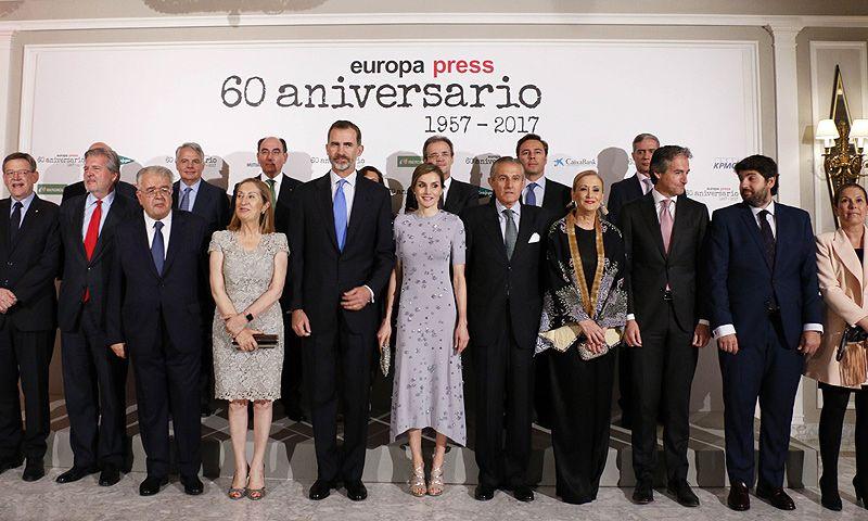 Los reyes Felipe y Letizia presiden el 60º aniversario de Europa Press