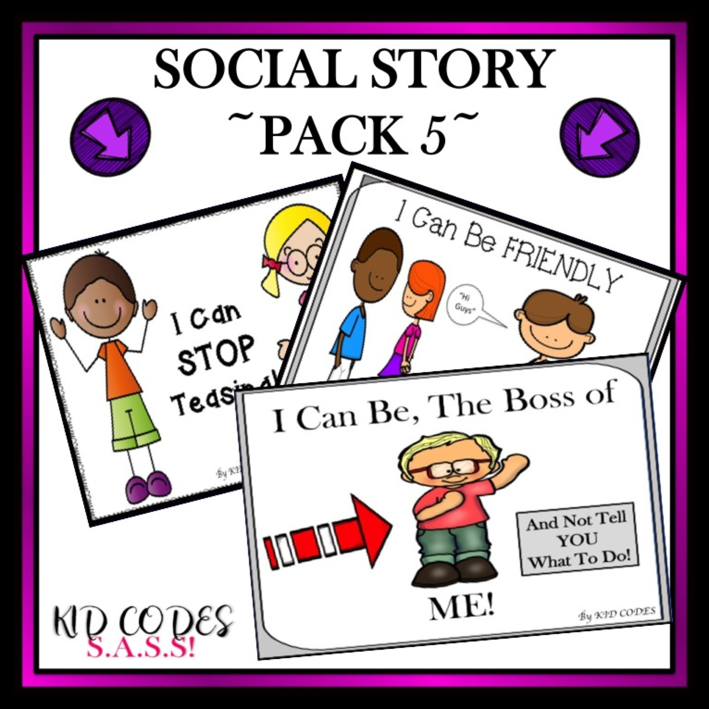 Social Story Bundle 5 Friendship Skills For K 2nd Grade