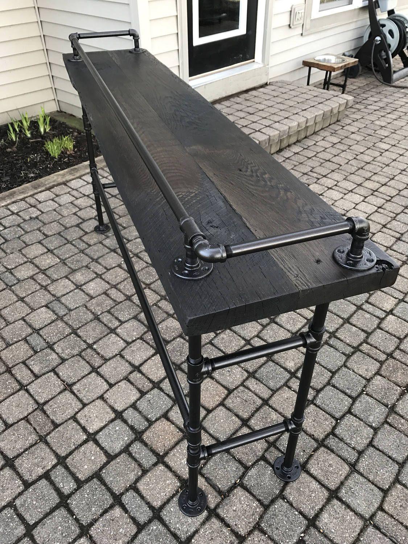 Reclaimed Barn Wood Sofa Bar Table 6 Foot Reclaimed Barn Wood