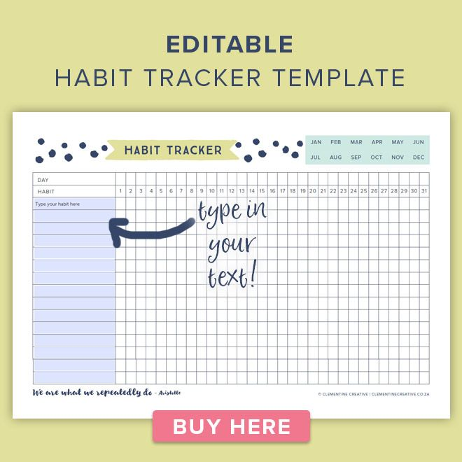 image regarding Habit Tracker Free Printable named This Free of charge Printable Practice Tracker will Support on your own Achieve your