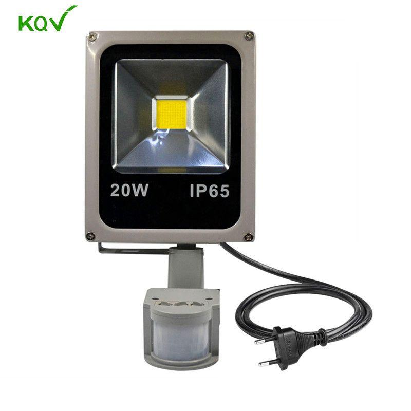 Pir Projector Lamp Led Flood Light Sensor Control Auto Detection 10w 20w 30w 50w 100w Floodlight Induction Lamp With Led Flood Lights Flood Lights Light Sensor
