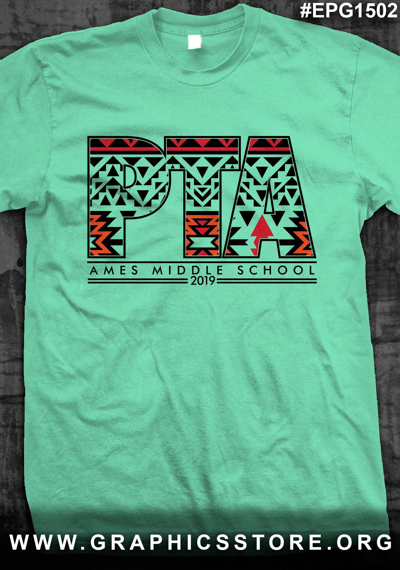 Shirt design green - Epg1502 Pta School Shirt