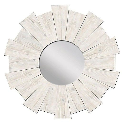 The Burst Mirror makes a captivating addition to beach style decor ...