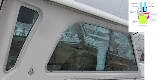 Marine Glass Replacement : Bomon marine boat window replacement windows