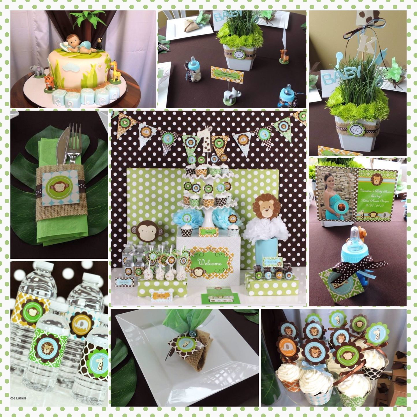 Safari baby shower#Shower box Designs# like us on facebook# https ...