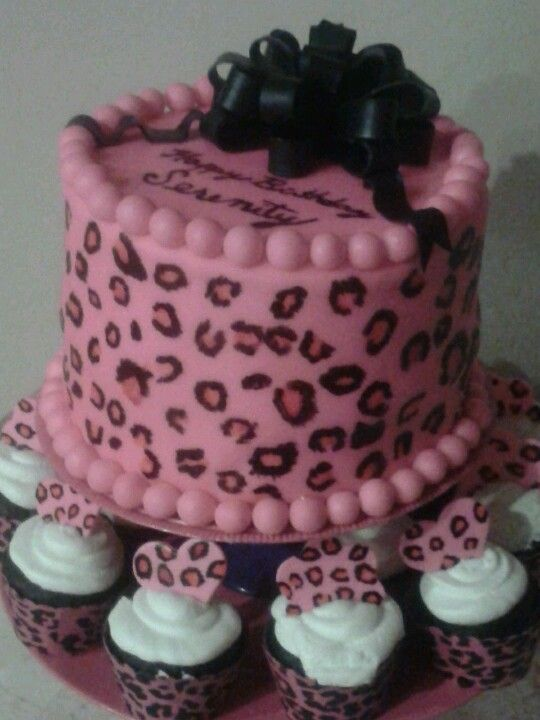 Pink Leopard Birthday Cake By Pretea Girls Ciaras Birthday