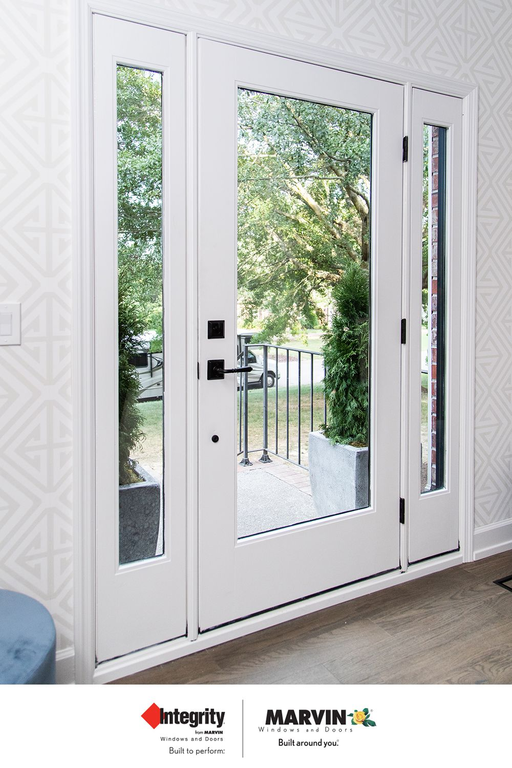New Dark Interior Window Door Finishes Provide The Perfect Accent For Hgtv Renovations Interior Windows Dark Interiors Windows And Patio Doors