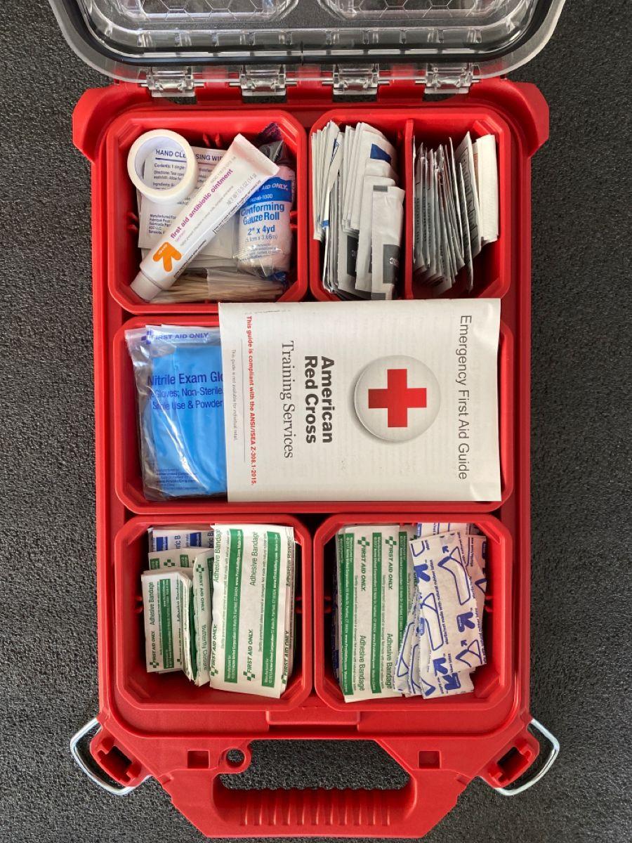First Aid Packout Ideas Garage Tool Organization Flooring Tools Milwaukee Tools