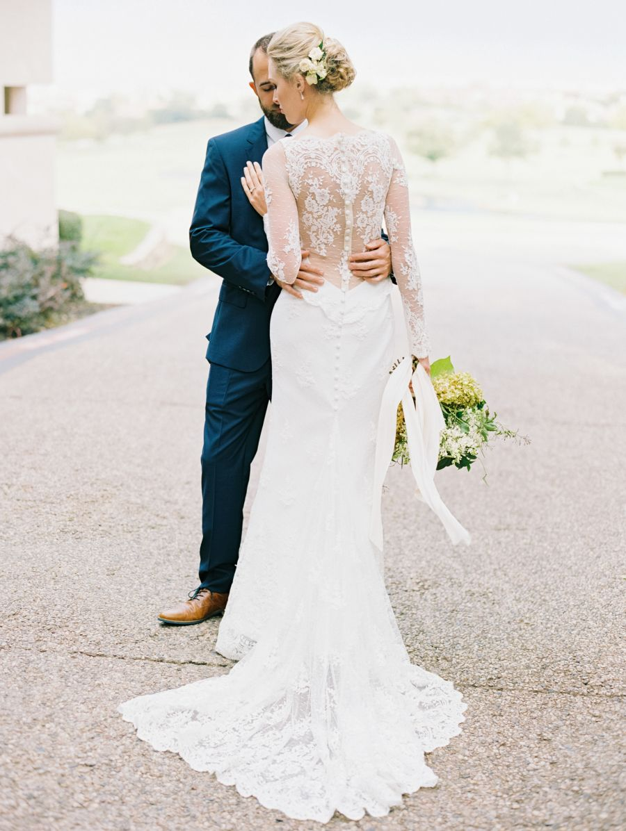This Couple Turned Their Backyard Into A Dream Venue Outdoor Wedding Dress Backyard Wedding Dresses Long Sleeve Wedding Gowns [ 1196 x 900 Pixel ]