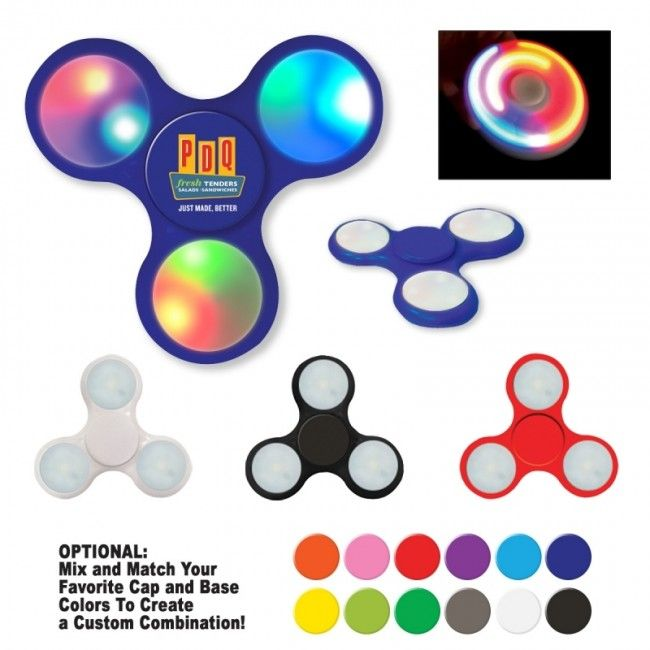Light Up LED Fun Spinner Personalized Fid Spinners