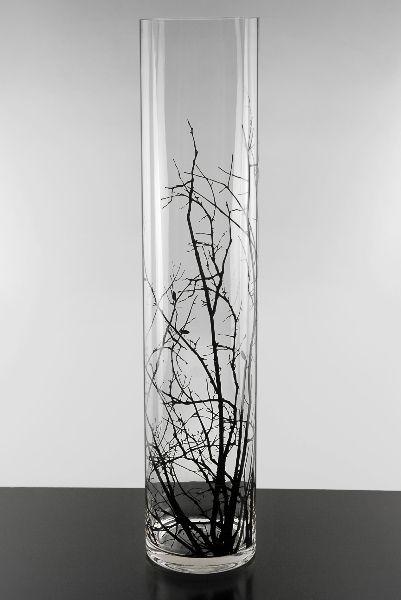 Birch Tree Branch Silhouette 24 Glass Cylinder Vases 19 Each 3