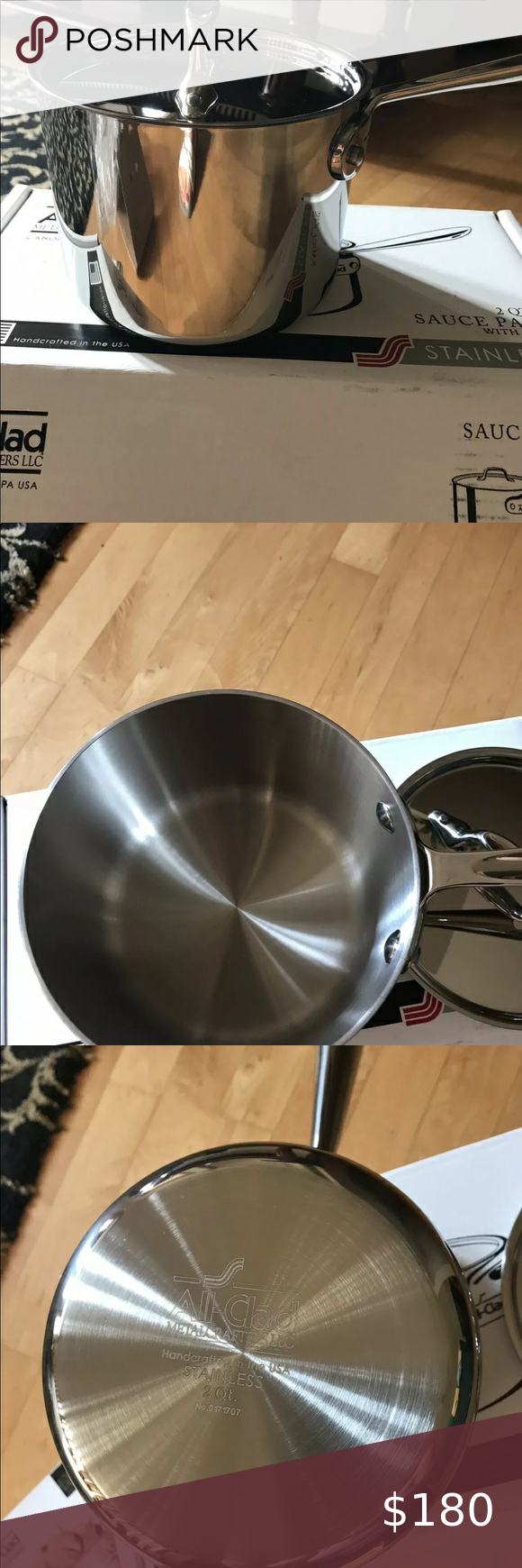 All Clad Stainless Steel Tri Ply 2 Qt Sauce Pan All Clad Stainless Steel All clad 2 qt saucier