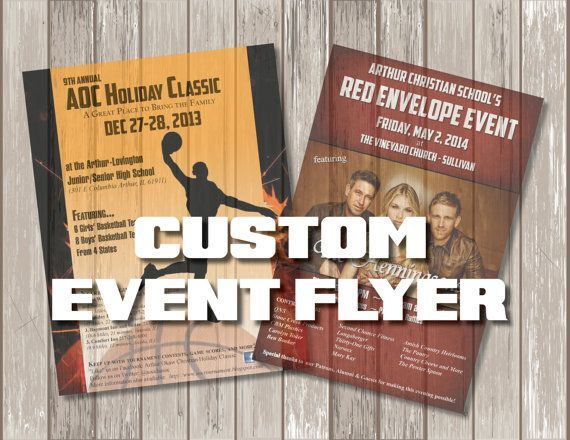 Custom Flyer Design - Event Poster - Custom Event Flyer Print - Graphic Design Print Poster