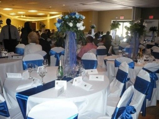 Blue And White Wedding Table Decoration Ideas