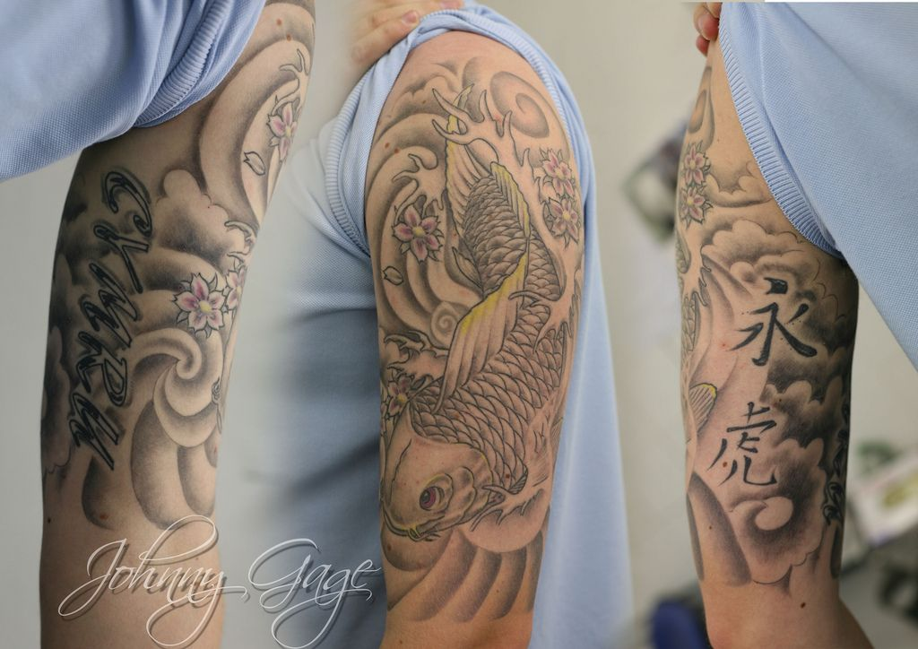 Chinese traditional Tiger/ gray wave Tattoos japanese
