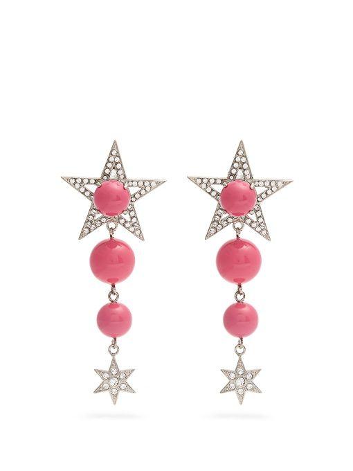 Crystal-embellished clip-on earrings Miu Miu 1bTuttg1m