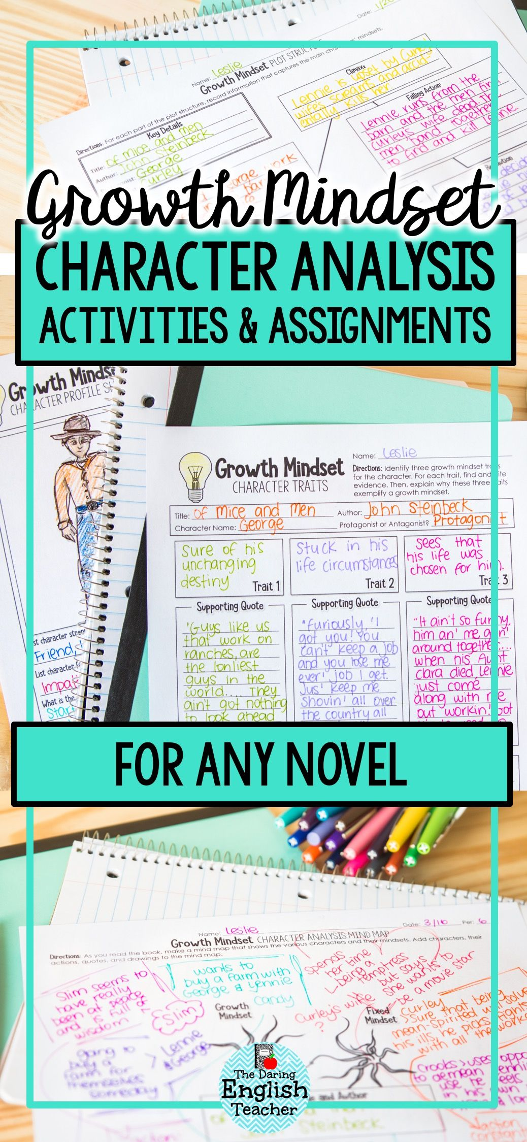 Characterysis Growth Mindset Activities For Secondary
