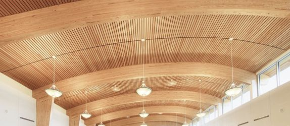Woodworks Linear Ceiling And Wall Systems By Armstrong In