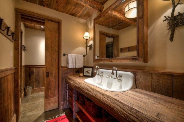 rustikale bder badezimmer landhausstil keramik projekte badezimmer halle rohholz kinder room - Bad Rustikal Gestalten
