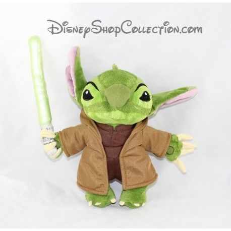 Peluche Stitch DISNEYLAND PARIS Maitre Yoda Lilo et Stitch Star Wars ... 0c004ab4d62