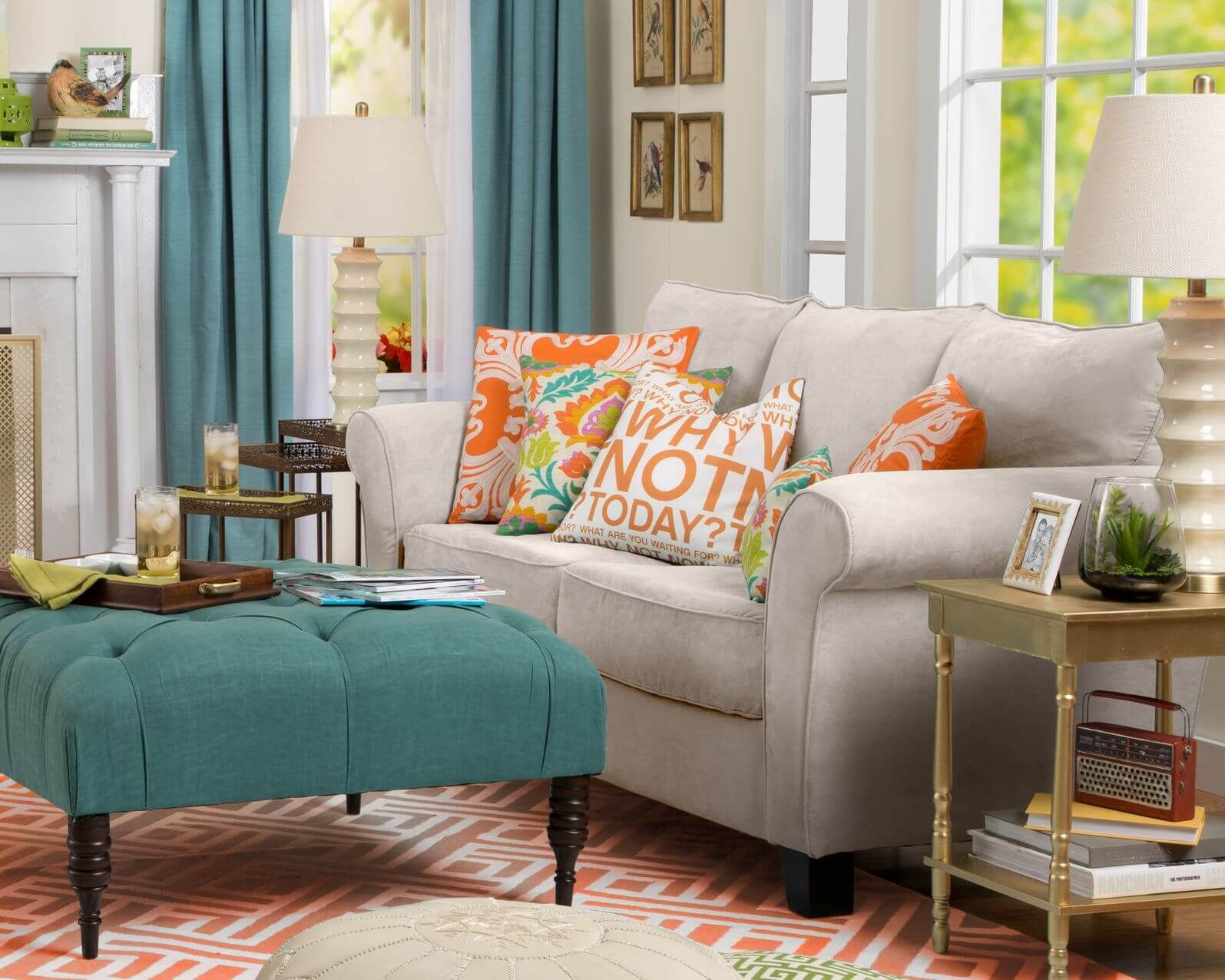 Colorful Living Room Sets   Interior   Home Interior   Decorating 50 Beautiful Living Rooms with Ottoman Coffee Tables Temnota  Colorful  Living Room  25 Colourful. Colorful Living Room Furniture. Home Design Ideas