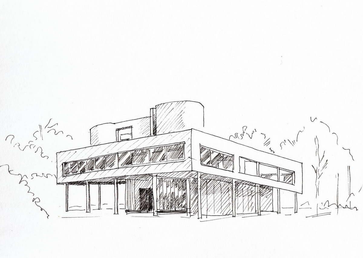Illustration croquis architecture recherche google - Beruhmte architektur ...