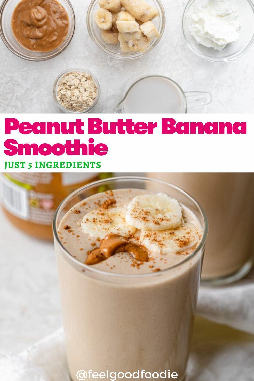 Peanut Butter Banana Smoothie Recipe Peanut Butter Banana Smoothie Banana Smoothie Banana Smoothie Healthy