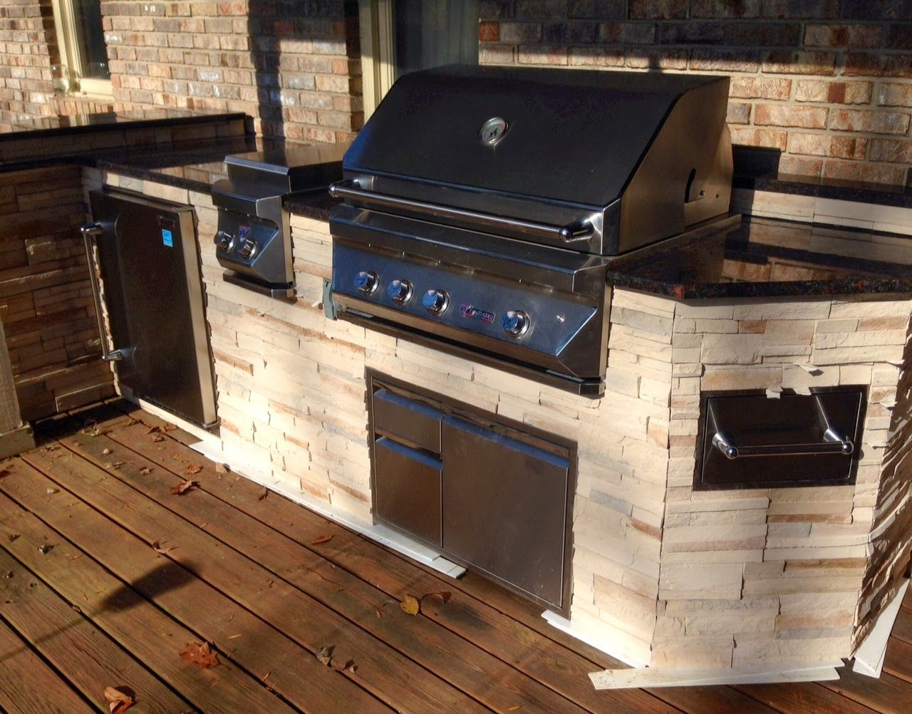 Custom Outdoor Kitchens Contemporary Kitchen Cabinets Chicago Built In Turkey Fryer