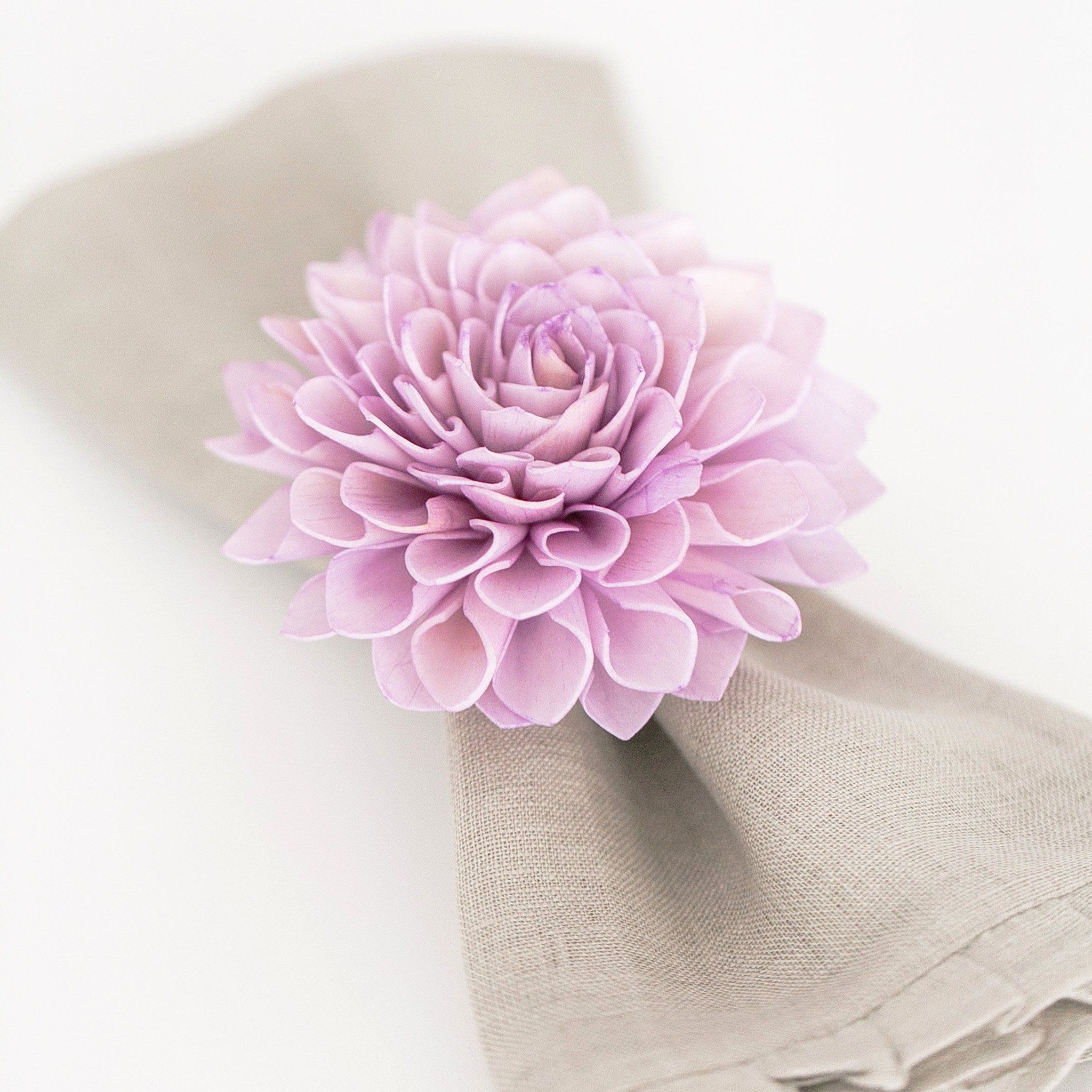 4 Lavender Napkin Rings, Wedding Napkin Rings, Table Decor, Dinner ...