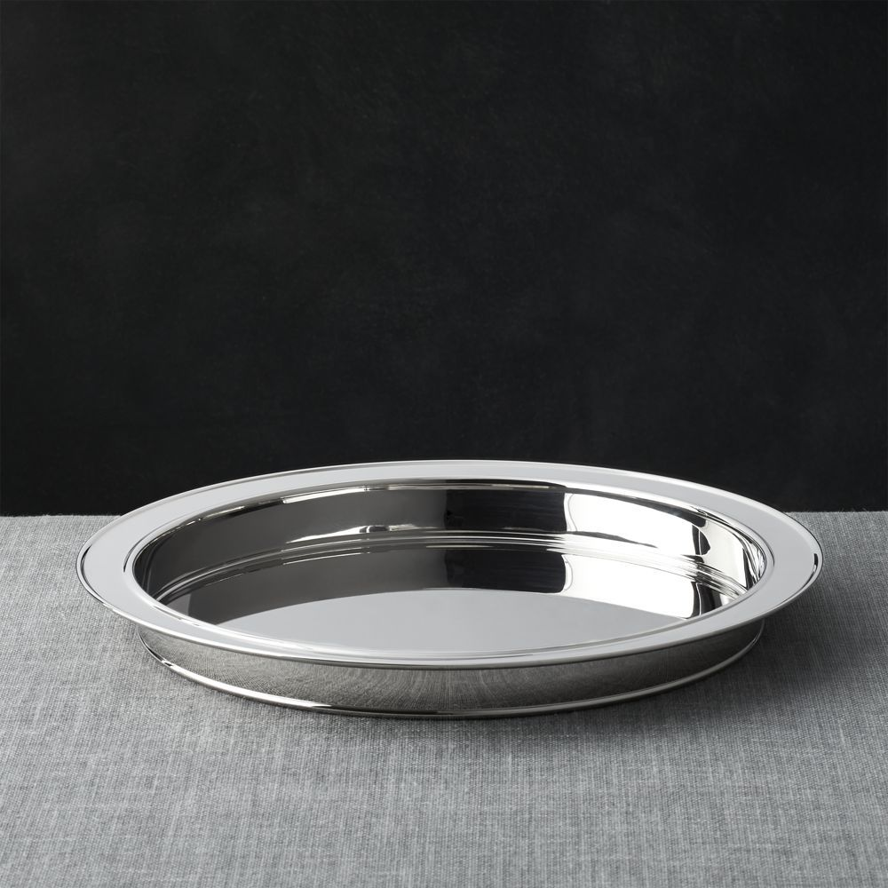 Easton Stainless Steel Serving Tray Reviews Crate And Barrel Stainless Steel Bar Tray Crate Barrel