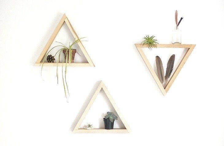 DIY étagère triangle - Blog Déco Meme and Triangles - comment construire sa maison soi meme