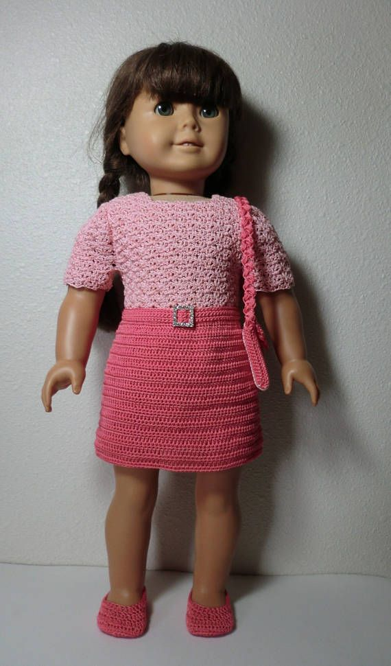 AG 251 School Outfit Crochet Pattern for American girl dolls ...