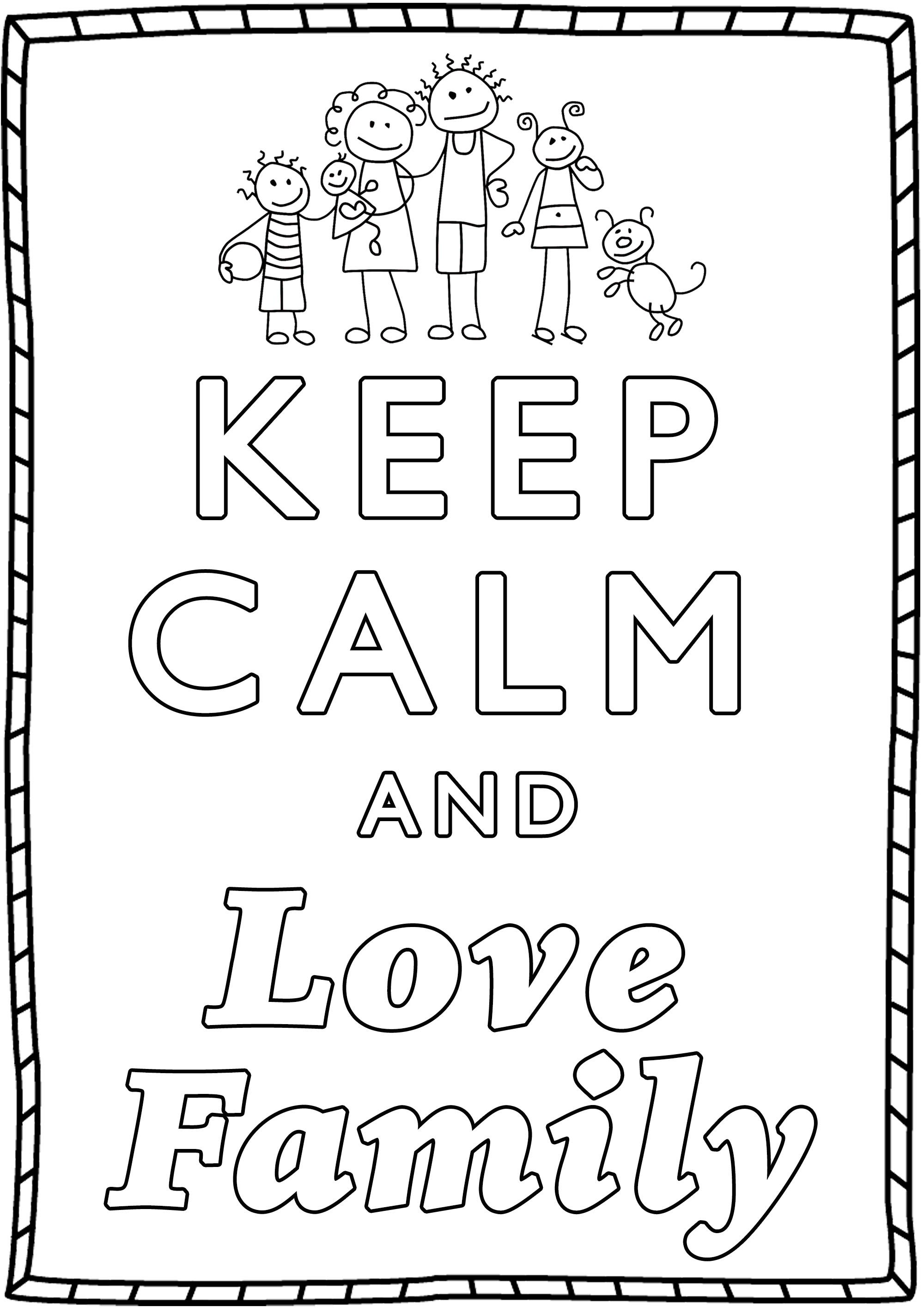 Keep Calm and Love Family : Love his Family is the key to